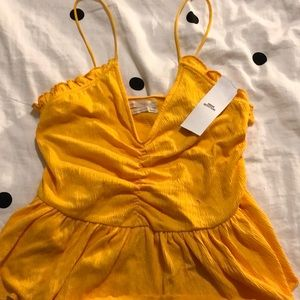 urban outfitters yellow peplum